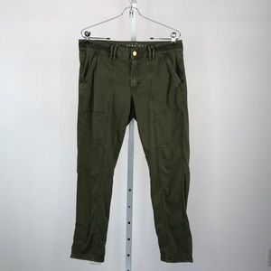 White House Black Market Olive Crop Cargo Pants